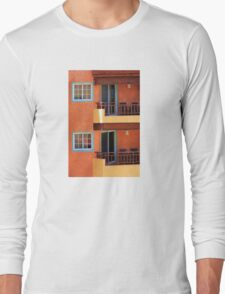 Vivid colors in Isla Mujeres, Mexico Long Sleeve T-Shirt