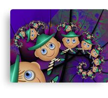 Inner Child - Leprechauns in a Psychedelic World Canvas Print