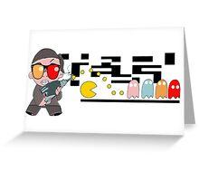 Feeding the Pac Man Greeting Card