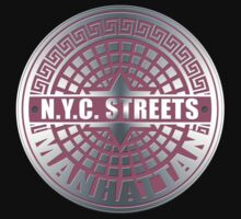 Manhole Covers Manhattan Pink by ImagineThatNYC