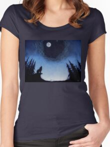 Wolf Moon Women's Fitted Scoop T-Shirt