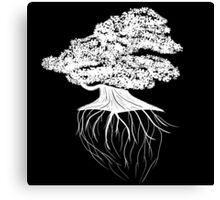 Bonsai Tree + Roots Canvas Print