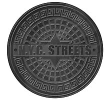 Manhole Covers NYC Black Photographic Print