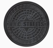 Manhole Covers NYC Black by ImagineThatNYC