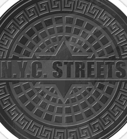 Manhole Covers NYC Black Sticker