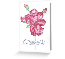 Floral Thank You Card Greeting Card