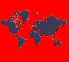 World Splatter Map - ntrue red by Mark McKinney