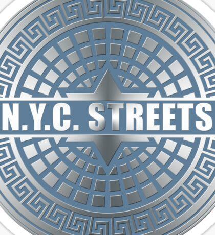Manhole Covers NYC Blue Sticker