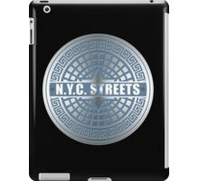Manhole Covers NYC Blue iPad Case/Skin