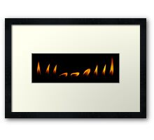 Dancing Flame Framed Print