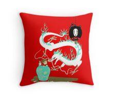 The white dragon Throw Pillow