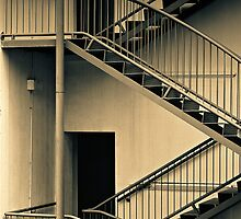 External stairway (duotone) by graphicscapes