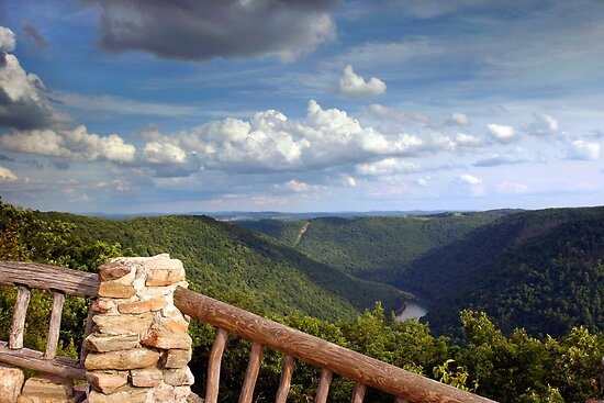 The View From Coopers Rock by Gene Walls