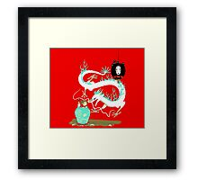 The white dragon Framed Print
