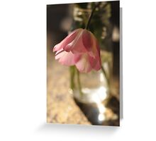Tulips in the kitchen i Greeting Card