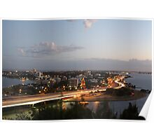 South Perth from Kings Park Poster
