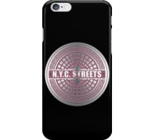 Manhole Covers NYC Pink iPhone Case/Skin