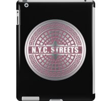Manhole Covers NYC Pink iPad Case/Skin