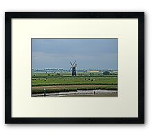 Illustrated view of Berney Arms Windmill Framed Print