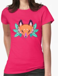 Pixel Fox Womens Fitted T-Shirt