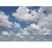 blue sky and clouds Photographic Print