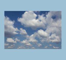 blue sky and clouds Kids Tee