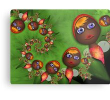Inner Child - Little Tropical Fairies Metal Print