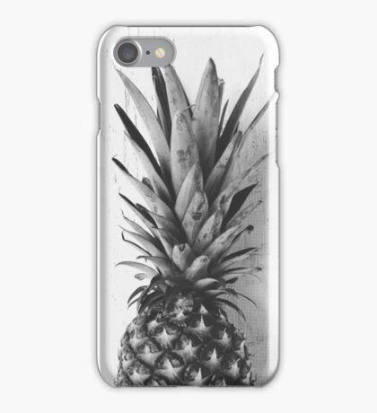 Black and white pineapple iPhone Case/Skin