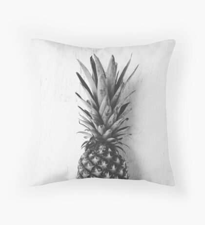 Black and white pineapple Throw Pillow