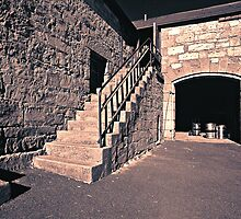 """""""The Stables"""" no.1 - Fingal Tasmania (duotone) by graphicscapes"""