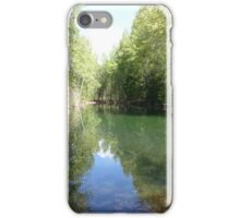 Reflecting Pond, Timberline Village WA iPhone Case/Skin