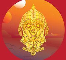 Steampunk C-3PO by Evan Ayres