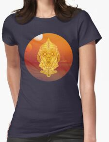Steampunk C-3PO Womens Fitted T-Shirt