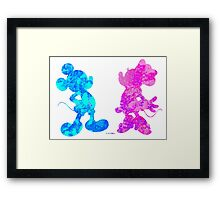 Mickey and Minnie Mouse Framed Print