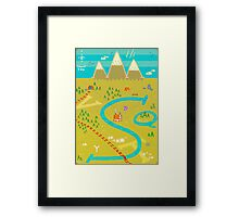 Font Mountains Framed Print