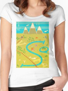 Font Mountains Women's Fitted Scoop T-Shirt
