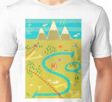 Font Mountains Unisex T-Shirt