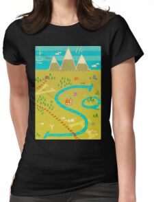 Font Mountains Womens Fitted T-Shirt