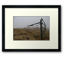 Barbed Wire Fog Framed Print