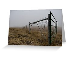 Barbed Wire Fog Greeting Card