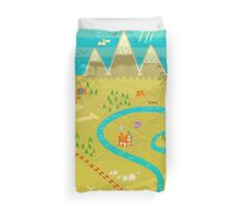 Font Mountains Duvet Cover
