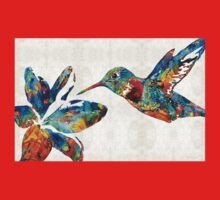 Colorful Hummingbird Art by Sharon Cummings Kids Clothes