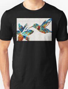 Colorful Hummingbird Art by Sharon Cummings Unisex T-Shirt