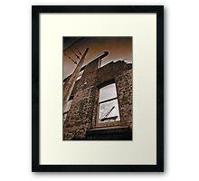 Old brick facade (duotone) Framed Print