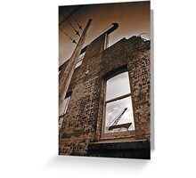 Old brick facade (duotone) Greeting Card