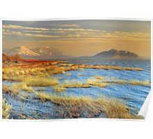 Utah Lake, Colorful Sunset Poster
