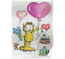 A Garfield Birthday Poster