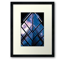 Skyscraper blues (duotone) Framed Print