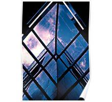Skyscraper blues (duotone) Poster
