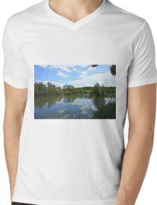 Lake view Mens V-Neck T-Shirt